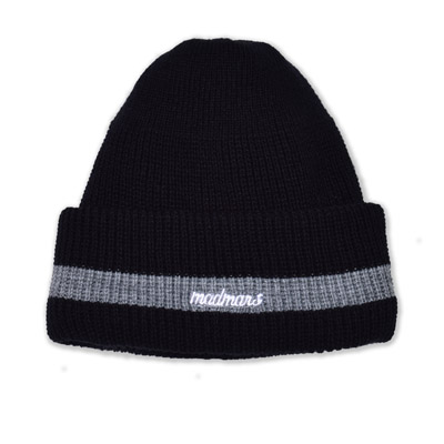 LOGO EMBROIDERED BEANIE_BLACK