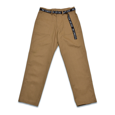 LETTERING STRAIGHT PANTS_BEIGE