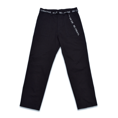 LETTERING STRAIGHT PANTS_BLACK