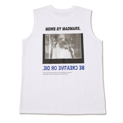 [season off 30%sale]BACKPRINTING SLEEVELESS_WHITE