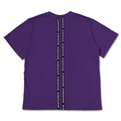 [season off 30%sale]SLOGAN TAPED T-SHIRTS_PURPLE