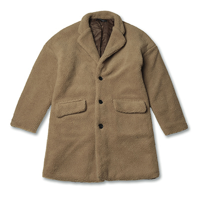 [50%할인]EMBROIDERED FUR COAT_CAMEL