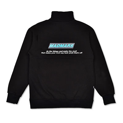 COLORATED TURTLENECK SWEATSHIRTS_BLACK
