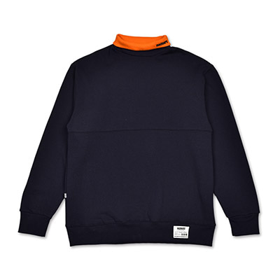 COLORATED TURTLENECK SWEATSHIRTS_NAVY