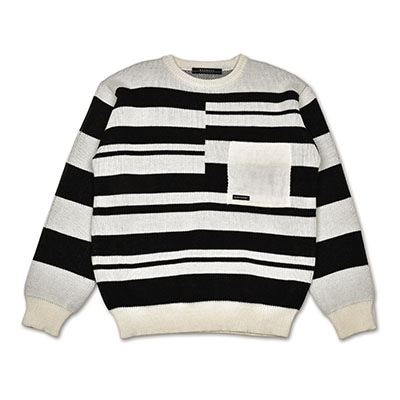 IRREGULAR STRIPE KNIT_IVORY