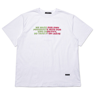 [season off 30%sale]2 COLORED LETTERING T-SHIRTS_WHITE