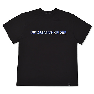 BASIC SLOGAN T-SHIRTS_BLACK