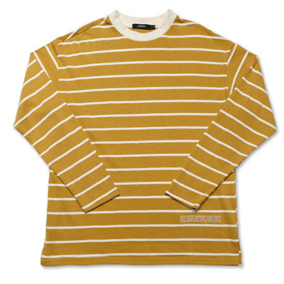 YELLOW TEXTURE LONGSLEEVE T-SHIRTS