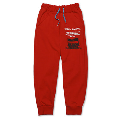RECORDED JOGGER PANTS_RED