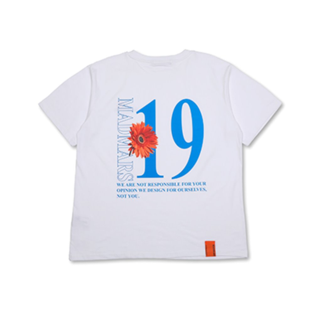 FLOWER PRINTING T-SHIRTS_WHITE