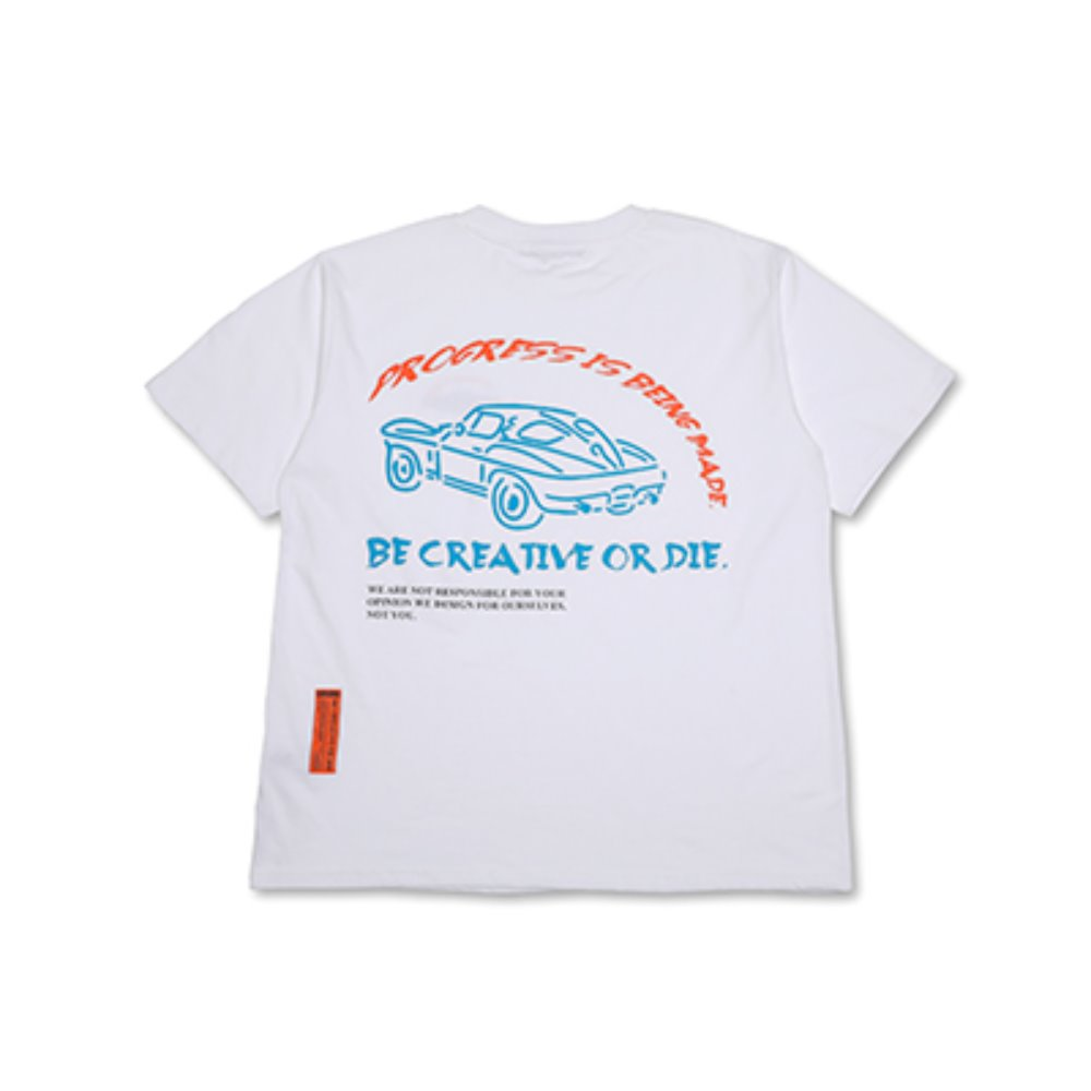 CAR SLOGAN T-SHIRTS_WHITE