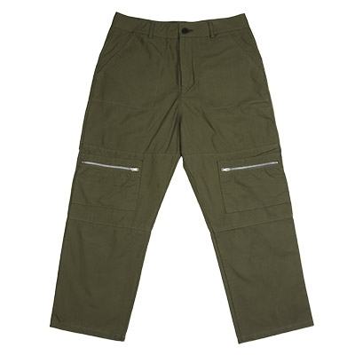 STRAIGHT ZIPPER PANTS (KHAKI)
