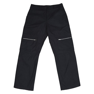 STRAIGHT ZIPPER PANTS (NAVY)