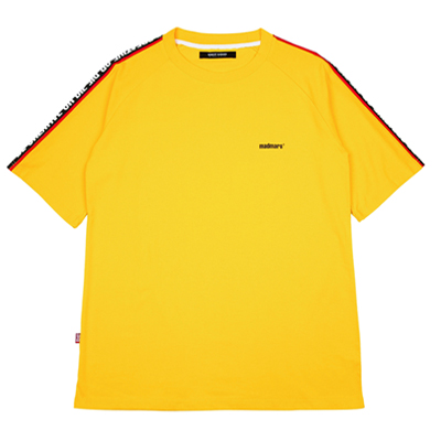 [10%할인]RAGLAN SLOGAN T-SHIRTS (YELLOW)