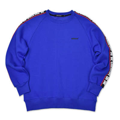 RAGLAN SLOGAN SWEATSHIRTS_BLUE