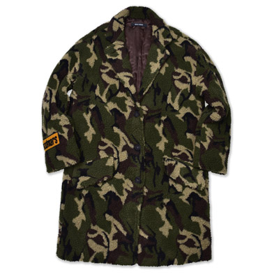 [50%할인]FAUX FUR CAMO COAT