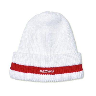 LOGO EMBROIDERED BEANIE_WHITE