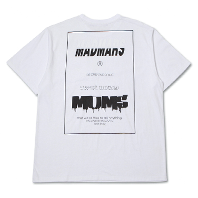 [season off 30%sale]DRIBBLE LOGO T-SHIRTS_WHITE