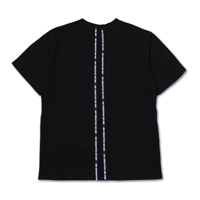 [season off 30%sale]SLOGAN TAPED T-SHIRTS_BLACK