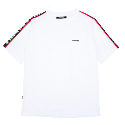 [10%할인]RAGLAN SLOGAN T-SHIRTS (WHITE)