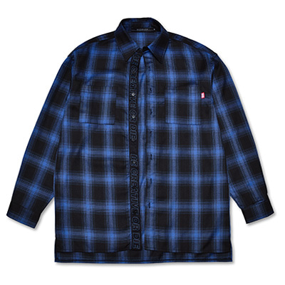 [50%할인]CHEQUERED SHIRTS_BLUE