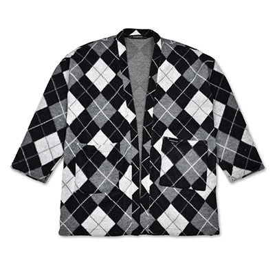 ARGYLE CARDIGAN_GRAY