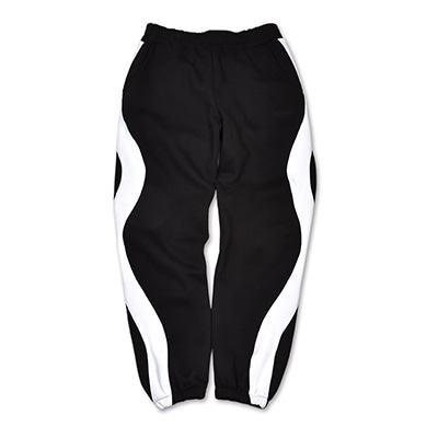 WAVY LINE TRAINING PANTS_BLACK