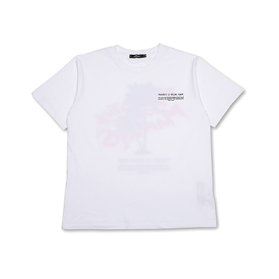 PALM PRINTING T-SHIRTS_WHITE